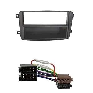 Baseline Connect - Juego de montaje de radio para Mercedes (Clase C W203, CLK W209, Viano, Vito, con repisa), color negro
