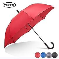 RUMBRELLA Hook Handle Umbrella Windproof UPF 50+, j Stick UV Umbrellas Auto Open 54IN