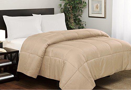 down alternative comforter taupe - 7