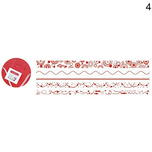 BleuMoo 5Pcs Stripe Decoration Washi Tape DIY Decoration Scrapbooking Planner Masking Tape Adhesive Tape Label Sticker (Rose smell) for cheap