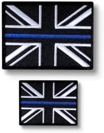 Fina Línea Azul Police Union Jack Gancho + Lazo Base Parche (UK Insignia) Set: Amazon.es: Hogar