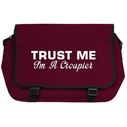 Trust Me I m A Croupier Messenger Bag–Burgund gTsOYa