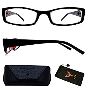 (#NS-201ST Blk) Myopia Nearsighted Men Women Short-Sighted Distance Shape Black Frame Driving Glasses Eyeglasses