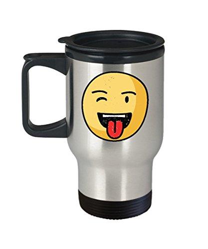 Smiley Face Travel Mug - Cute Emoji Gifts