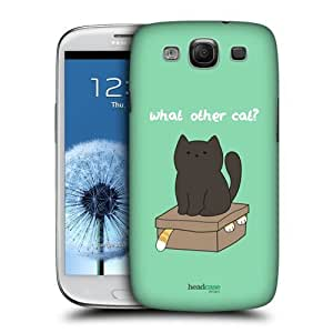 AIYAYA Samsung Case Designs What Other Cat Ceiling Cat Vs Basement Cat Protective Snap-on Hard Back Case Cover for Samsung Galaxy S3 III I9300