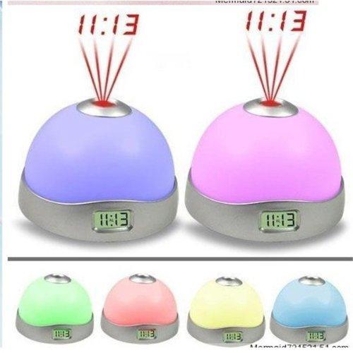 Digital Alarm Clock Changing Color LED Magic Starry Projection Clock Night Light