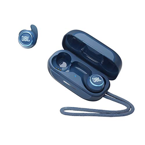 JBL Reflect Mini NC TWS - Small Waterproof Sports in-Ear Headphones with Bluetooth, with Charging Case, in Blue