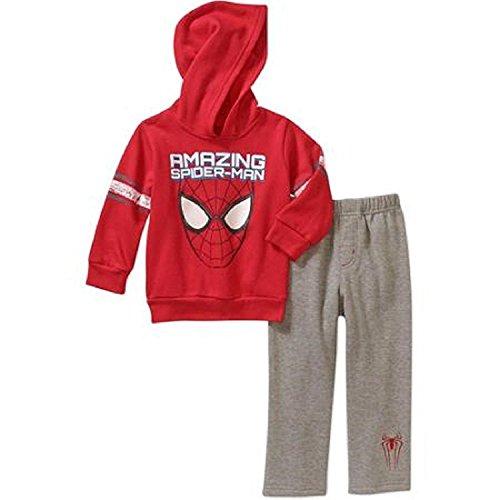 Spiderman Baby Boys' Fleece Hoodie and Pants Set, 24 Months