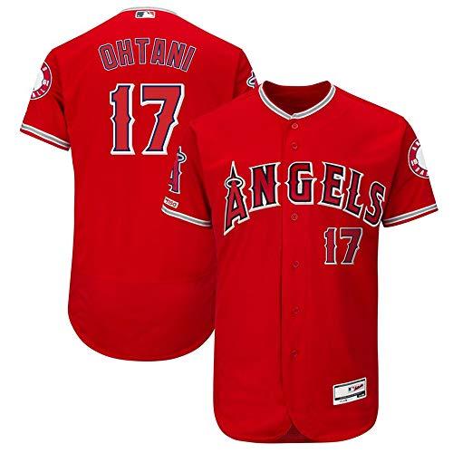VF LSG Mens #17 Shohei Ohtani Los Angeles Angels Alternate Flex Base Collection Player Jersey - Scarlet L