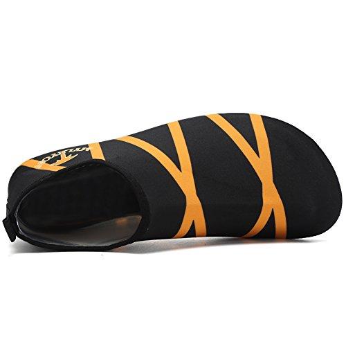 CIOR Männer und Frauen Barfuß Haut Aqua Schuhe Rutschfeste Multifunktionale Wasserschuhe Für Strand Pool Surf Yoga Übung Orange02