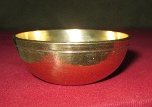 Artcollectibles India Set Of 3 Brass Bowls Hindu Puja Item India Havan Aarti Tika Mauli Holi Religious