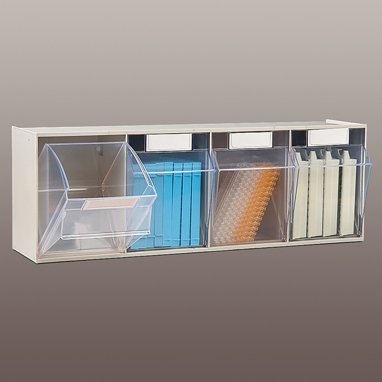 Devine Medical Tilters Tilt Front Bin - 4 Bin, 24x8x7, Beige by Devine Medical