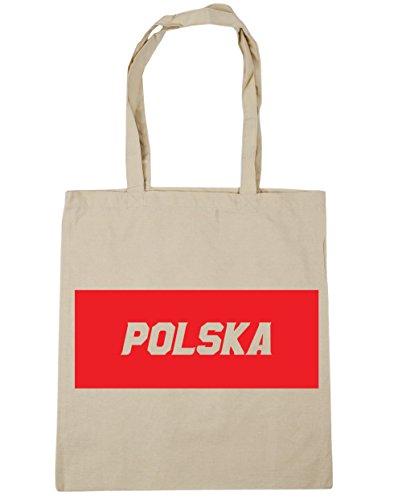 HippoWarehouse polska relleno caja bolsa de la compra bolsa de playa 42cm x38cm, 10litros Natural