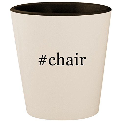 (#chair - Hashtag White Outer & Black Inner Ceramic 1.5oz Shot Glass)