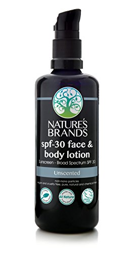 (Herbal Choice Mari Natural SPF 30 Face & Body Lotion, Unscented; 3.4floz)