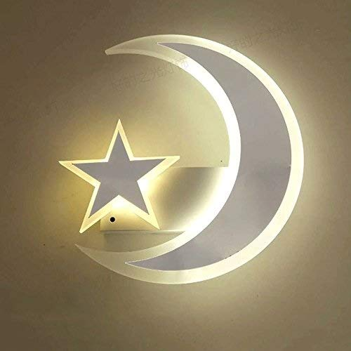 MEI Wall Lights LED Wall Lamp, Nordic White Acrylic Boy Girl Child Bedroom Hanging Lamp Modern Minimalist Bedroom Living Room Study Small Applique Creative Mini Cafe Corridor Wall - Concepts Floor Patio Lamp Acrylic Living