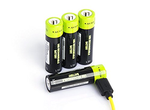 HobbyKing Znter 1.5V 1250mAh USB Rechargeable AA LiPoly Battery (4pcs)