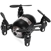Leewa@ GTeng T906W NANO Quadcopter RTF With Altitude Hold 0.3MP WiFi FPV Track Flying -Black (With Remote Control)