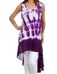 Sakkas Star Dancer Caftan Tank Hi Lo Dress / Cover Up