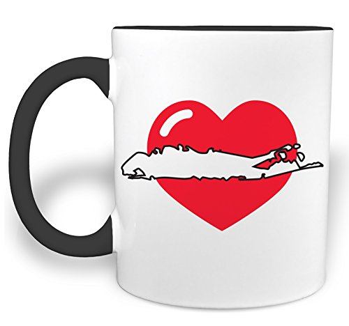 I Heart Long Island - 11 Ounce Ceramic Coffee Mug with Black Handle