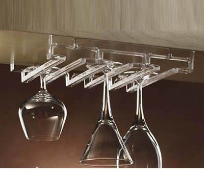 Amazon.com: Acrylic Modular Stemware Wine Glass Rack Under Cabinet ...