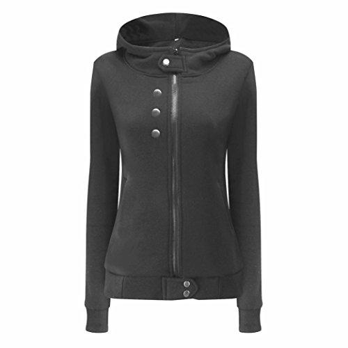 Sonnena Fashion Women Autumn Winter Velvet Warm Coat Hoodie Jacket Outwear Overcoat Deep Gray