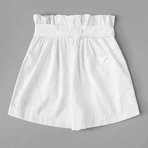 Hot Mecohe Corti Fashion Pantaloncini Donna Estivi Pants Sciolto Casual Pantaloncini Pantaloncini Pocket Eleganti Shorts Donna Bianco Sportivi xYrgwYtq