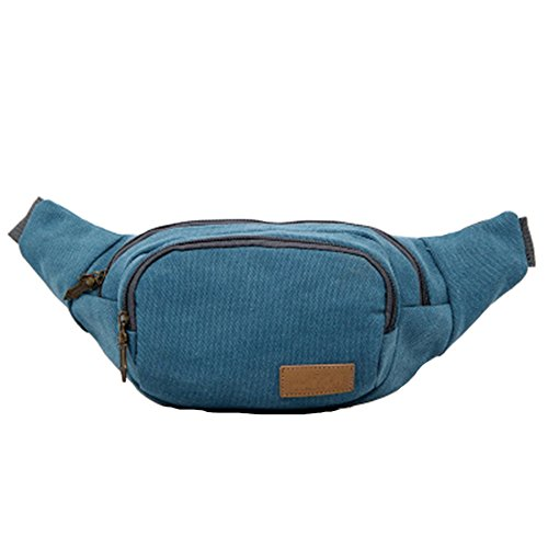 GSPStyle Unisex lona pecho Bolsa Hombre Riñonera Bolsa de deporte bolsa de hombro Crossbody Azul - azul