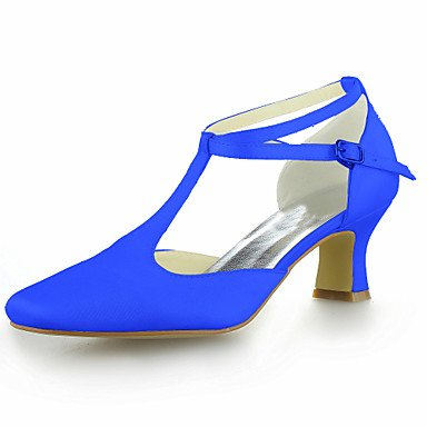 Silver Blue White UK4 Yellow Champagne EU36 CN36 Red Ivory US6 Satin Heel Wedding Summer Kitten Purple Women'S Black Buckle Pink Strap T qZvaxRzg