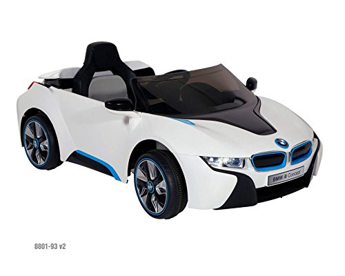 Dynacraft BMW i8 Concept 6-volt Electric Ride-On Car, White/