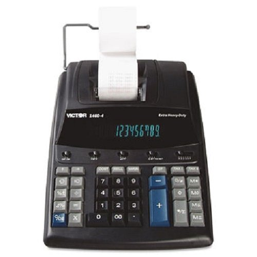 1460-4 Extra Heavy-Duty Printing Calculator, Black/Red Print, 4.6 Lines/Sec, Sold as 2 Each