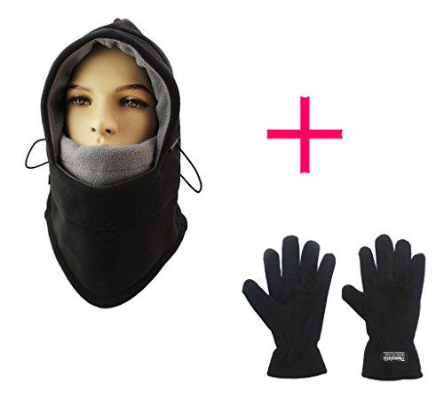 Lenikis Winter Versatile Neck Warm Fleece Ski Face Mask Balaclavas Hat, Women's Winter Gloves