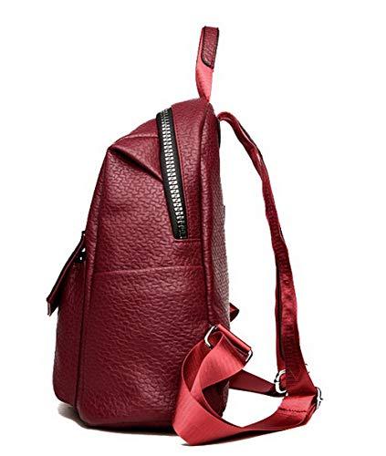 fourre FBUFBE181709 Femme Mode Sacs bandoulière Vineux Tout PU Vineux Cuir Sacs AllhqFashion Rouge Rouge à CXqvC
