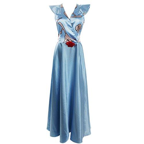 CosplayDiy Women's Blue Dress for Game of Thrones Margaery Tyrell Cosplay (Margaery Tyrell Costume)