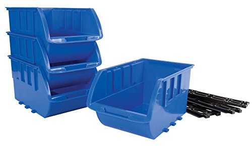 (Performance Tool W5196 4 Piece Large Stackable Storage Trays)