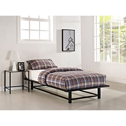 Industrial style bedroom furniture Studio Twin Size Metal Ledge Platform Bed Black Finish Bedroom Furniture Industrialstyle Amazoncom Amazoncom Twin Size Metal Ledge Platform Bed Black Finish