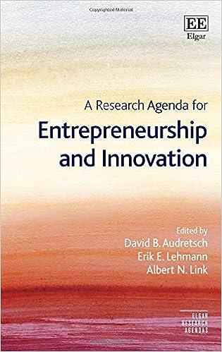 A Research Agenda for Entrepreneurship and Innovation (Elgar ...