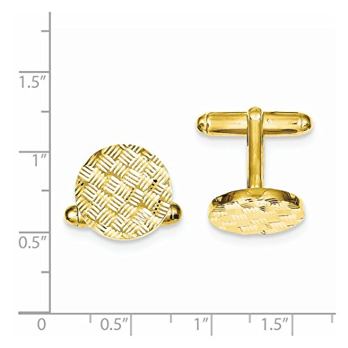 ICE CARATS 925 Sterling Silver Vermeil Round Woven Design Cuff Links Mens Cufflinks Man Link Fine Jewelry Dad Mens Gift Set by ICE CARATS (Image #5)