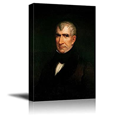 Lovely Picture, Portrait of William Henry Harrison by James Reid Lambdin (9th President of The United States) American Presidents Series, Quality Creation