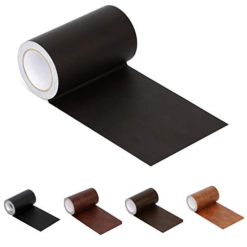 "Leather Repair Tape Patch Leather Adhesive for Sofas, Car Seats, Handbags, Jackets,First Aid Patch 2.4""X15"