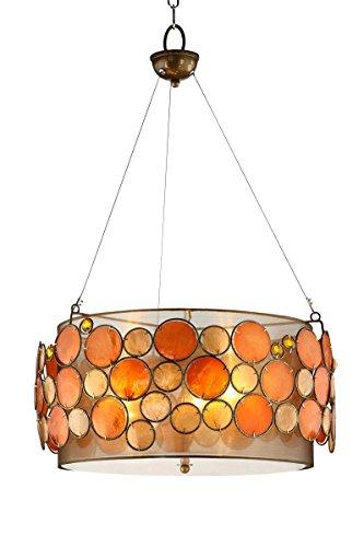Shell Drum Pendant Light