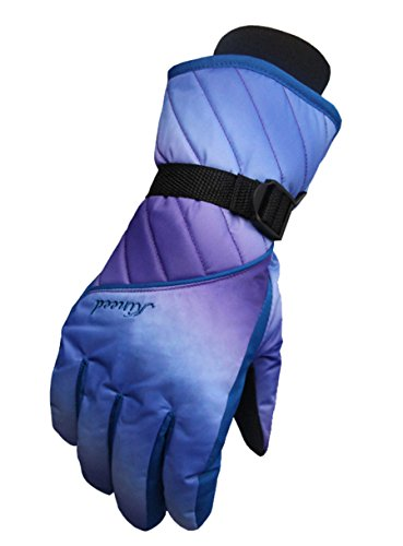 Runtlly Women's Winter Sports Outdoor Skiing Gloves Winter Warm Gloves Full Finger Waterproof Gloves Athletic Gloves Navy