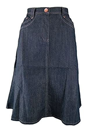 Damart Indigo Denim Skirt_18: Amazon.co.uk: Clothing