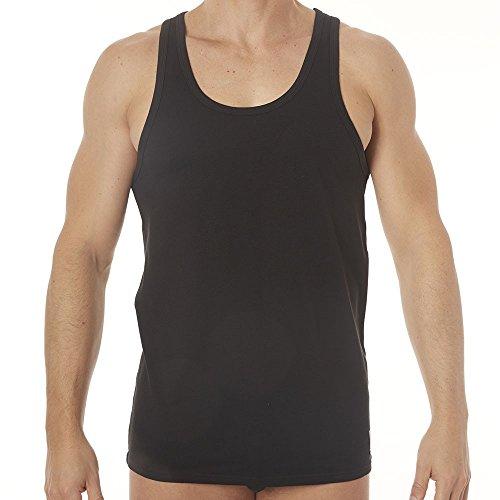 Calvin Klein ID 2-Pack Men's Tank Top Vests, Black Medium