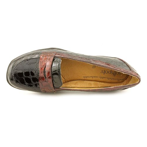 Slip Maven Black on Brown Softspots Women's Loafer Penny f1HZSqx