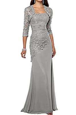 CaliaDress Women Mermaid Mother of the Bride Dress Long with Jacket C269LF