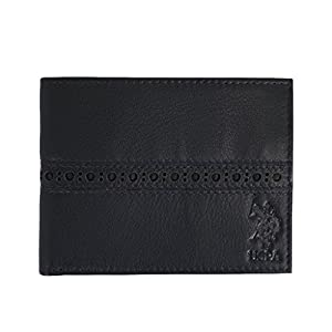 U.S. Polo Assn. City Slim Bifold Men's Leather Wallet