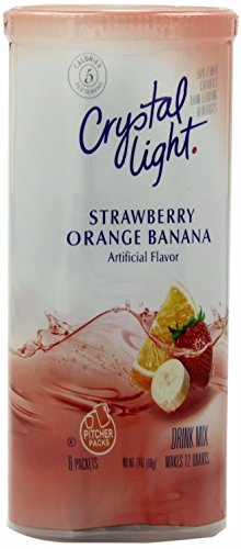 Crystal Light Strawberry Orange Banana Drink Mix, 12-Quart 2.4-Ounce Canister (Pack of 13) (Crystal Light Strawberry Banana)