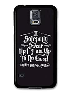 AMAF ? Accessories Harry Potter I Solemnly Swear I Am Up To No Good Marauder's Map Quote case for Samsung Galaxy S5