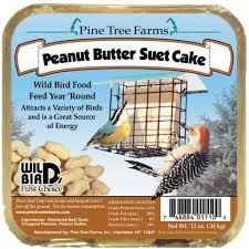6 Pack Pine Tree Farms Peanut Butter Suet Cake Wild Bird Food 12 Ounce